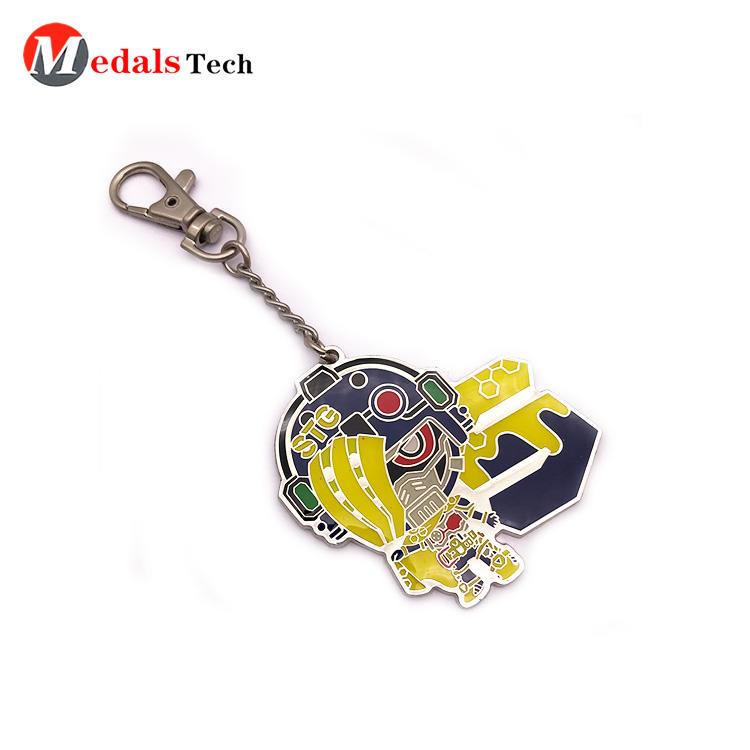Custom Metal Keychain Promotion Multi-Color Filled Cute Cartoon Key Chains