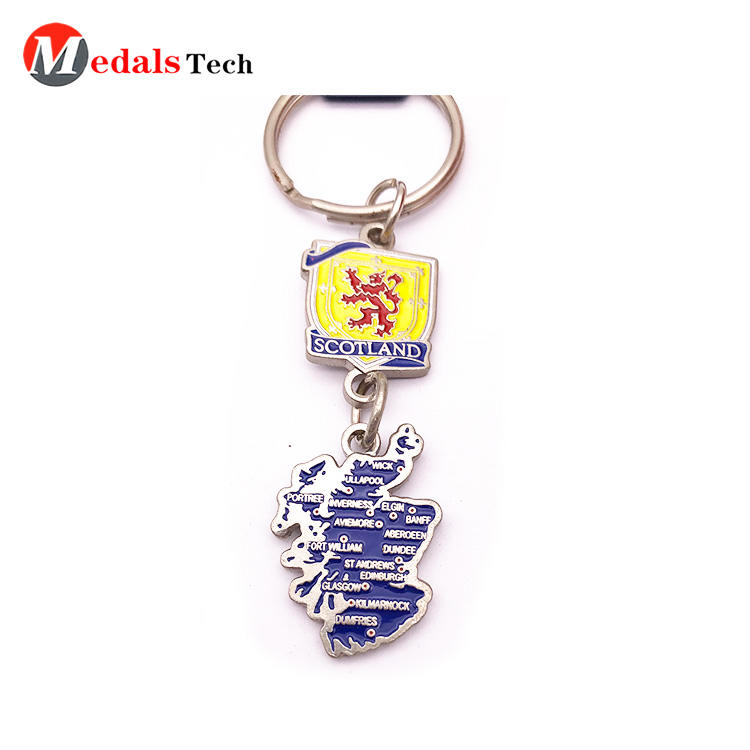 Home Keychain Supplies color Filled Nation Map Souvenir Factory Price