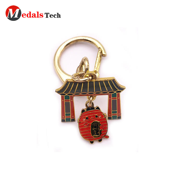 Wholesale Soft Enamel Festival Event Souvenir Decorative Keychain with Dog Hook