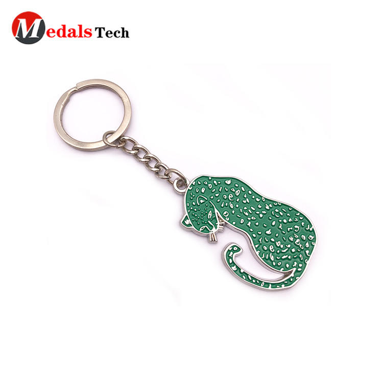 Custom Decorative Keychain Engraved Logo Silver Plating