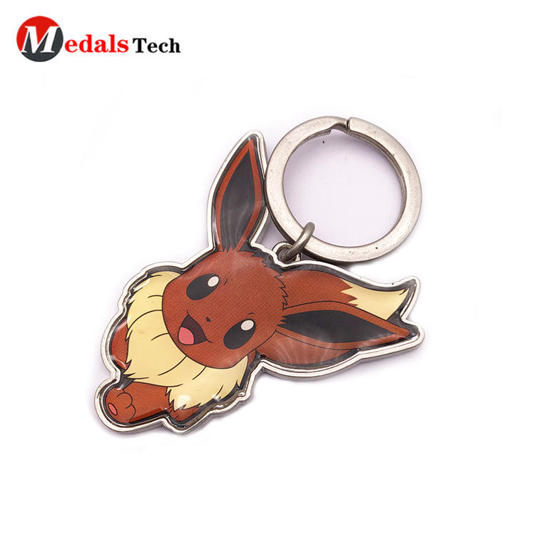 Custom Gift Metal Keychain with Sticker Design