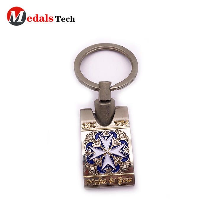 Custom Engraved Logo KeyKeychain Zinc Alloy with Color Filled Wholesale