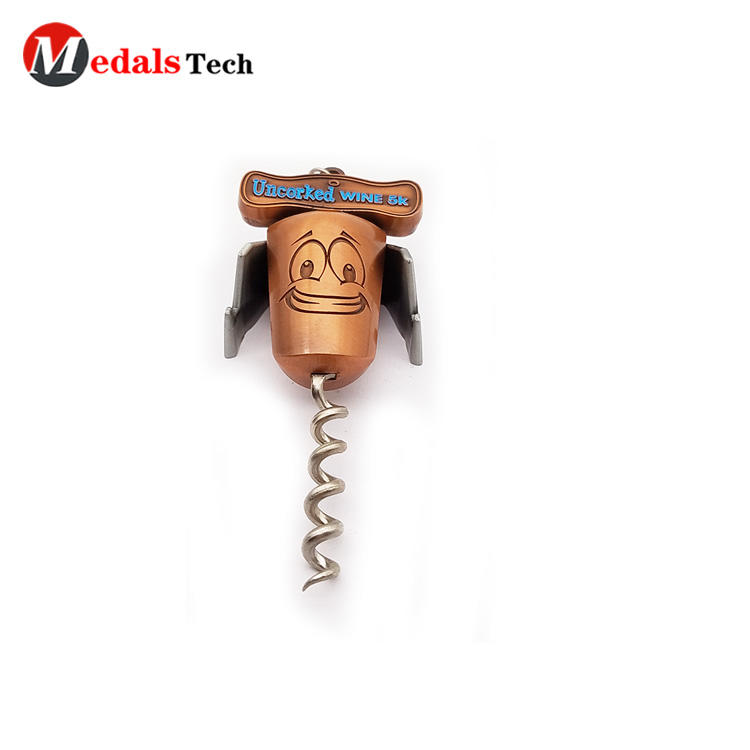 High quality bronze red cartoon crockscrew wine bottle opener