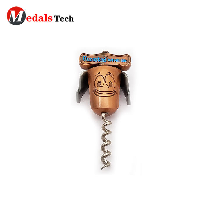 High quality bronze red cartoon crockscrew wine bottle opener