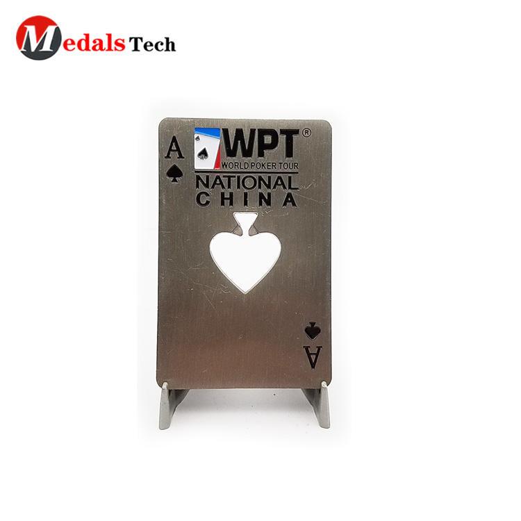 Wholesale engraved logo credit card metal beer bottle opener