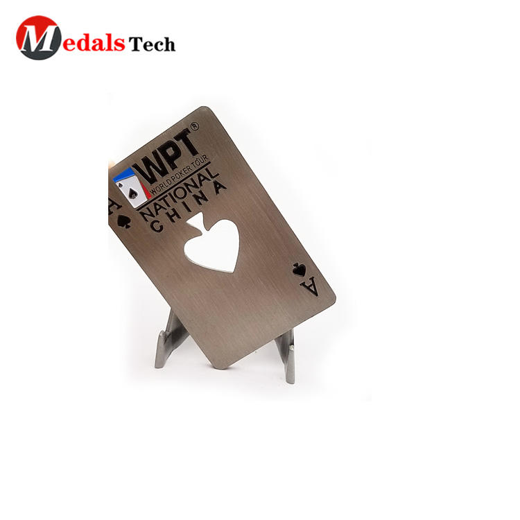 Wholesale engraved logo credit card metal beer bottle opener