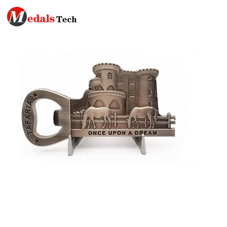 Factory sale 3d engraved logo bar bottle opener with sandblast backside