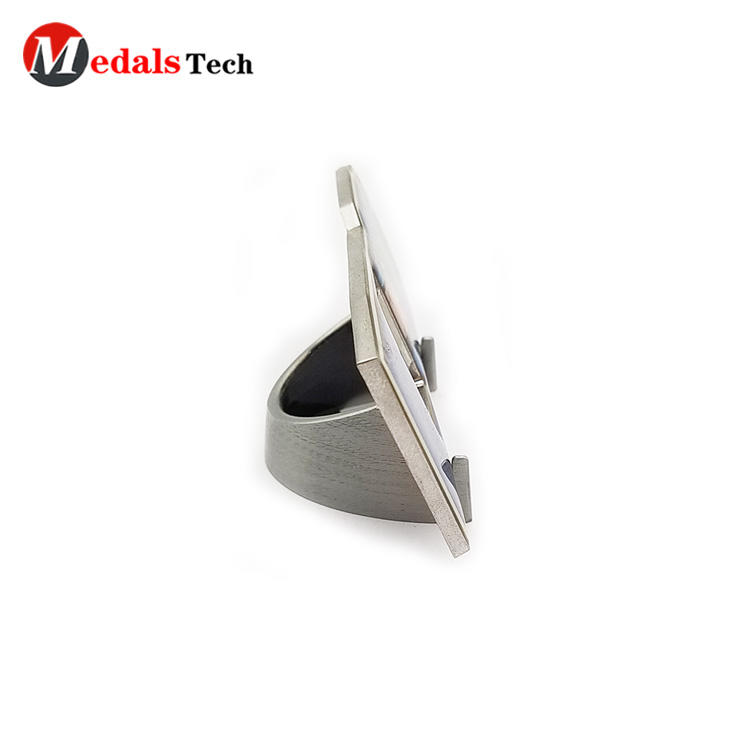 High quality silver plating souvenir gift bottle opener with epoxy sticker