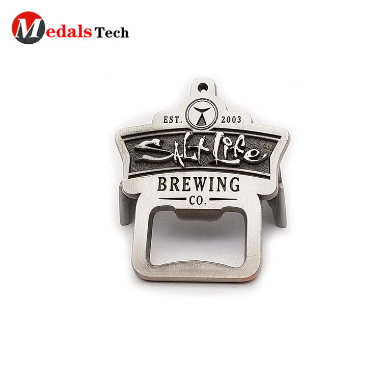 Promotional cheap zinc alloy embossed logo mini pocket  bottle opener