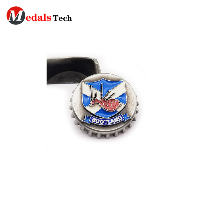 round wall mount bottle opener customized for souvenir-5
