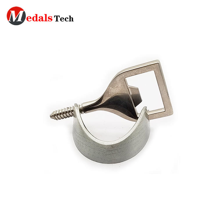 Cheap custom metal silver plating screw wine and beer bottle opener