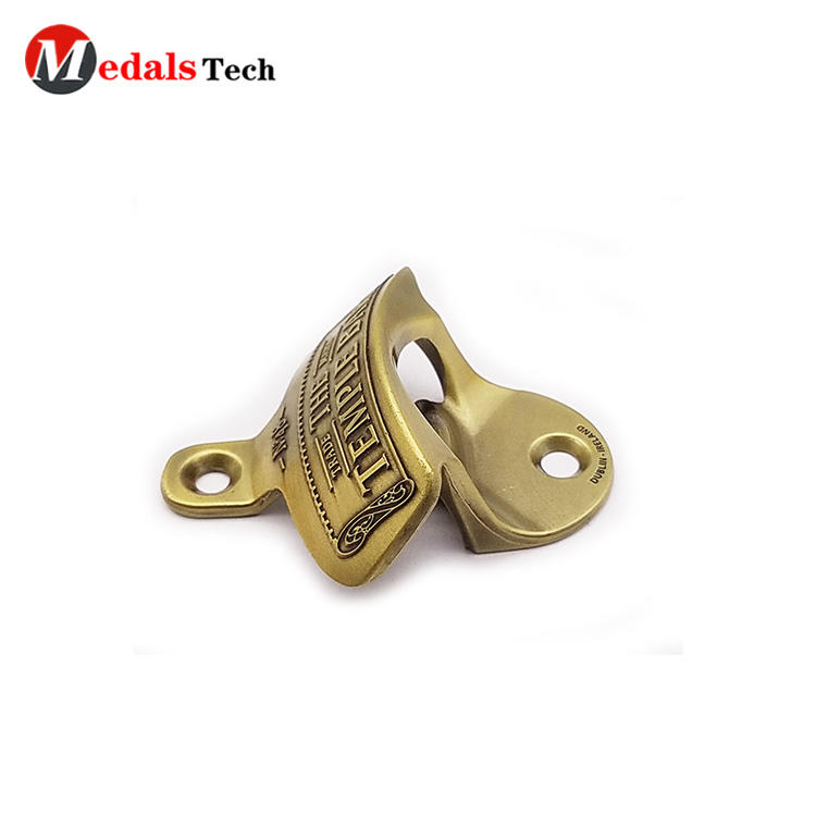 Hot selling antique gold plating vintage wall mounted bottle opener