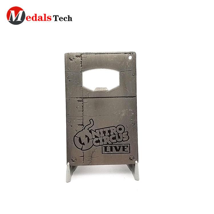 Customized logo print business gift metal card bottle opener
