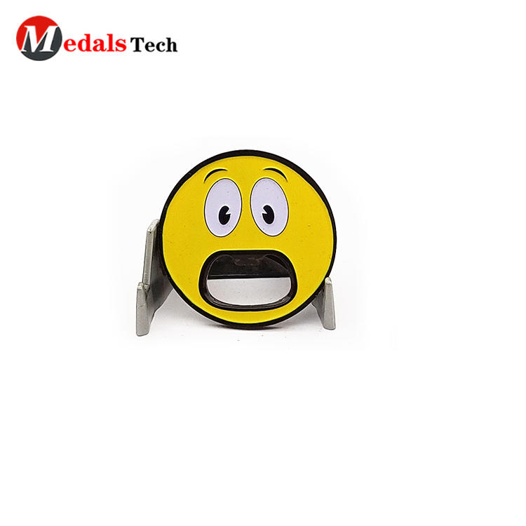 2019 New design cute emoji black plating metal gift bottle opener