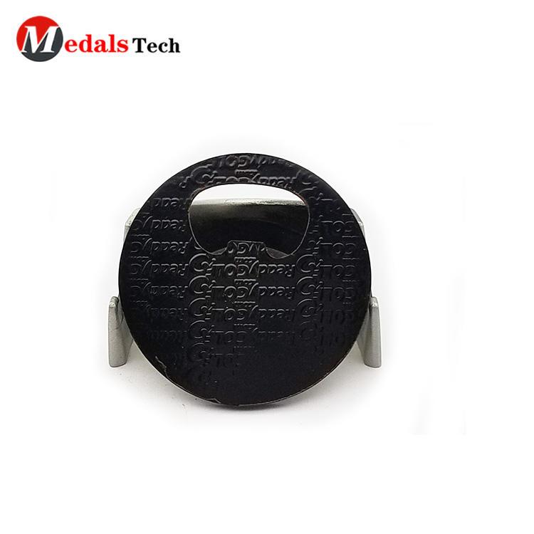 2019 New design cute emoji black plating metal gift bottle opener