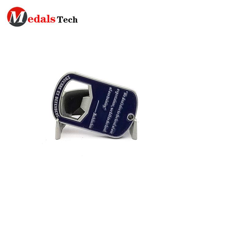 Factory direct sale mini embossed logo soft enamel bottle opener for bar