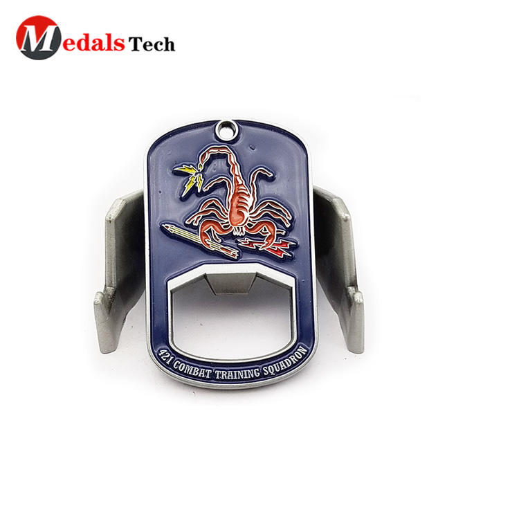 Factory direct sale mini embossed logo soft enamel bottle opener for bar