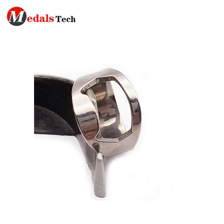 Wholesale ring shape shinny silver mini stainless steel bottle opener