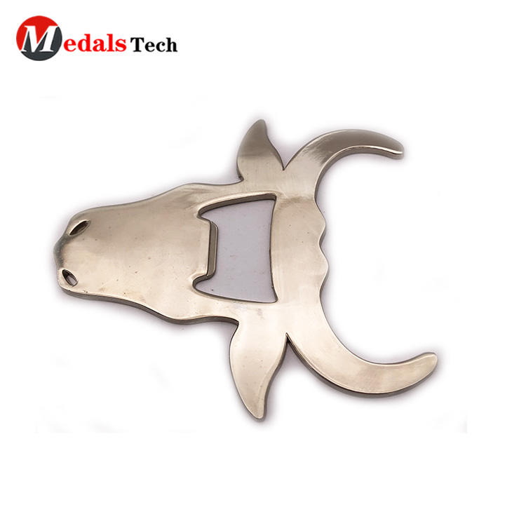 2019 new style blank cool cow shape stainless steel bottle opener
