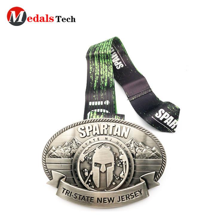 Personalized antique creative 3d logo zinc alloy medal belt buckles