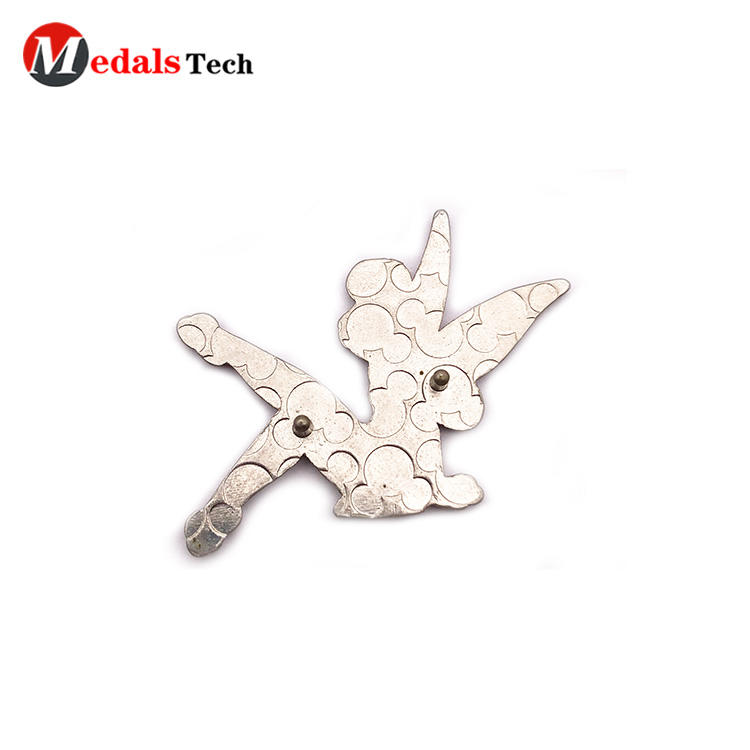 Wholesale beautiful  fairy girl silver plated gift metal lapel pin