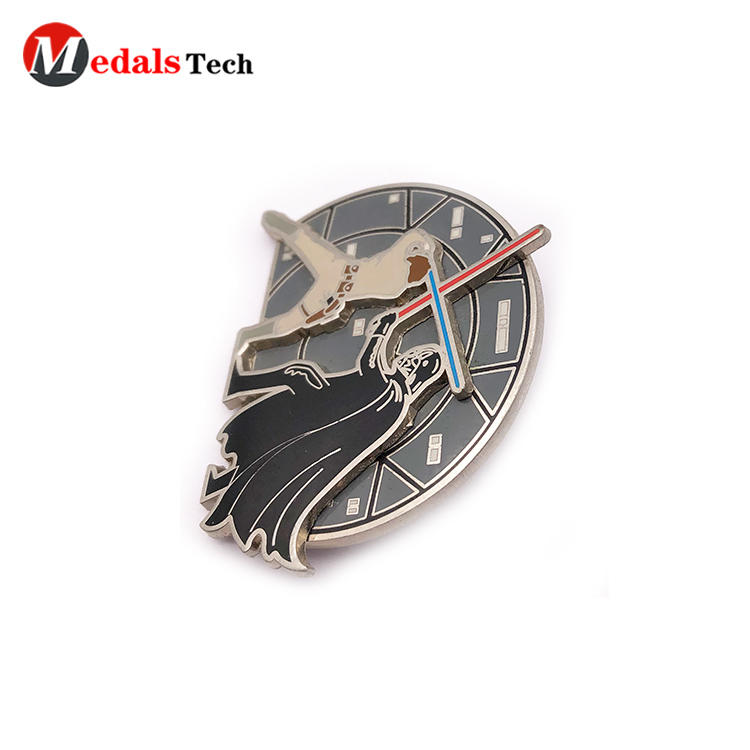 Low price customized 3d embossed logo metal lapel pin