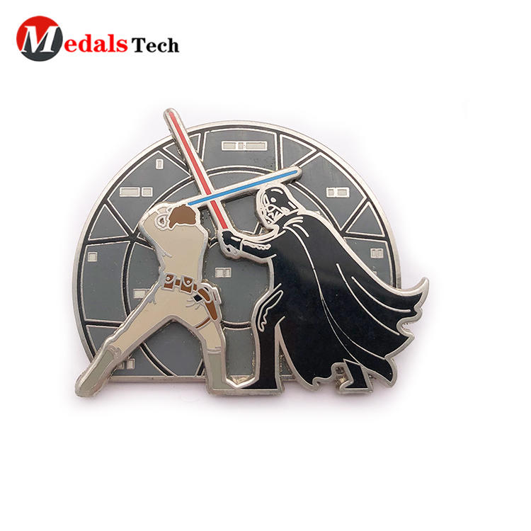Low price customized 3d embossed logo metal lapel pin