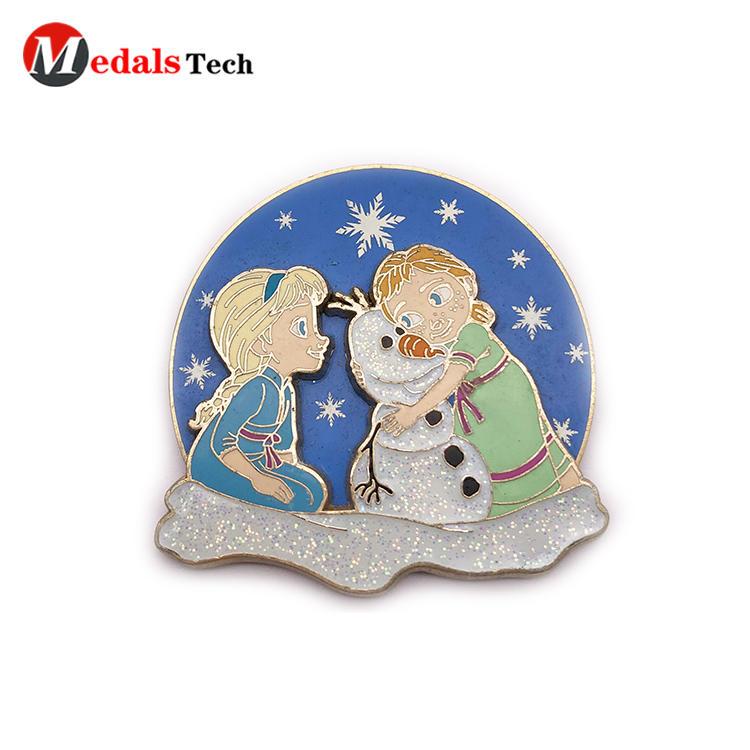 Factory direct sale gold 3d cartoon logo souvenir gift lapel pin