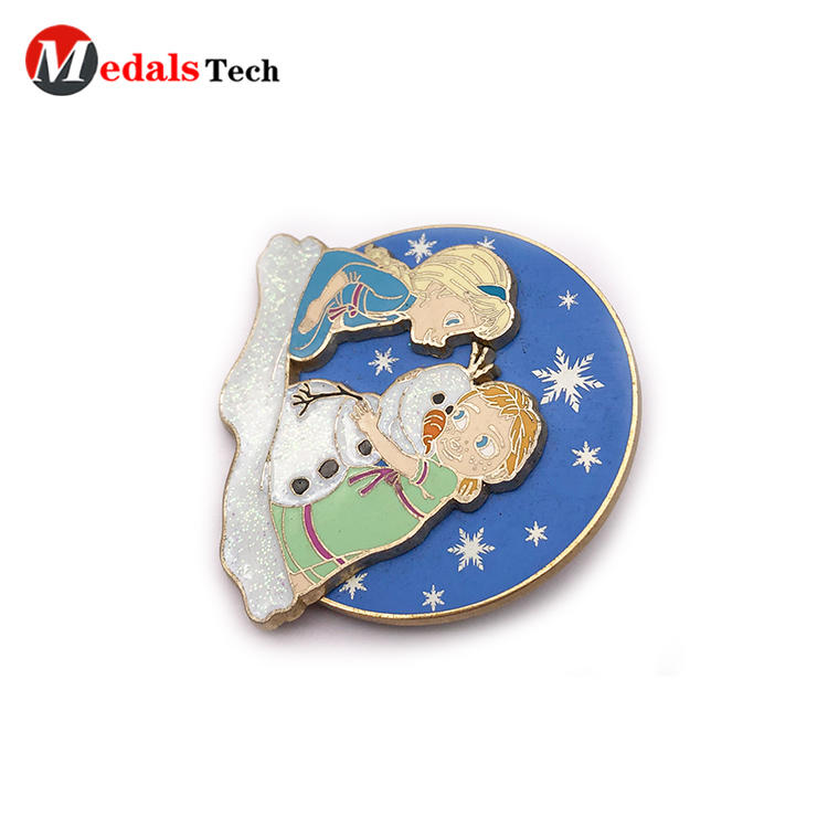 Factory direct sale gold 3d cartoon logo souvenir gift lapel pin