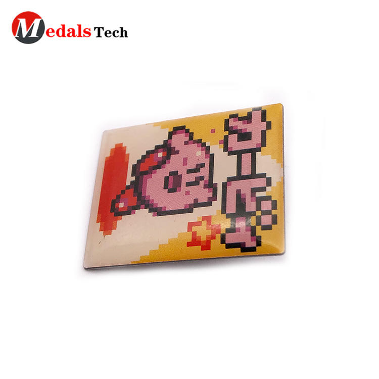 Free sample  make your own design cartoon pin epoxy sticker badge