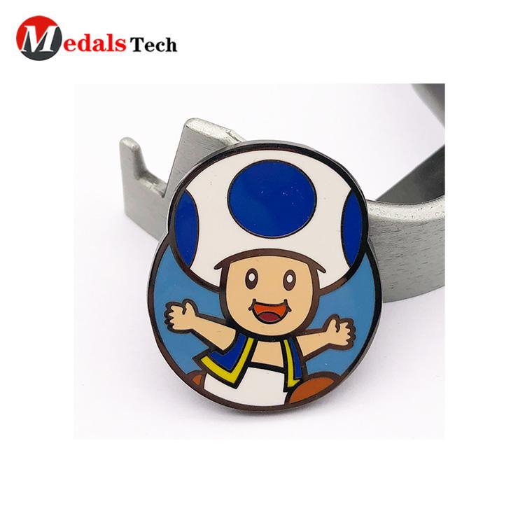 Promotional  cheap soft enamel cartoon pin unique badge