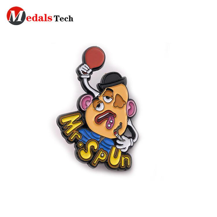 Unique cute  soft enamel cartoon 3d metal gift lapel pin