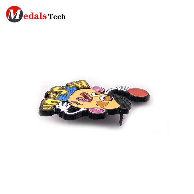 Unique cute  soft enamel cartoon 3d metal gift lapel pin