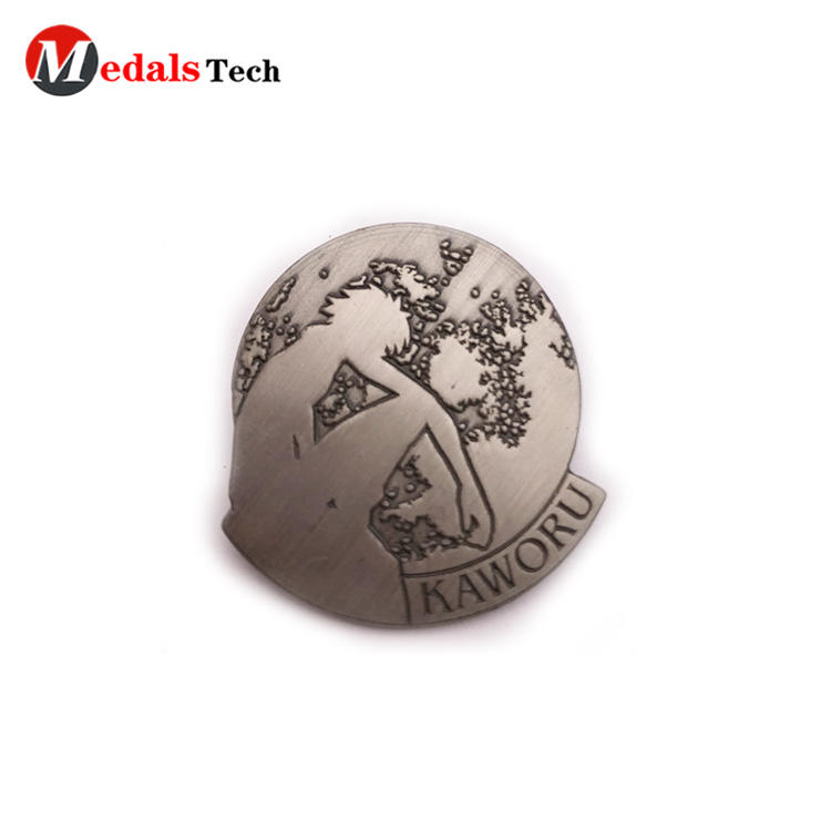 2019 new style antique silver zinc alloy blank lapel pin