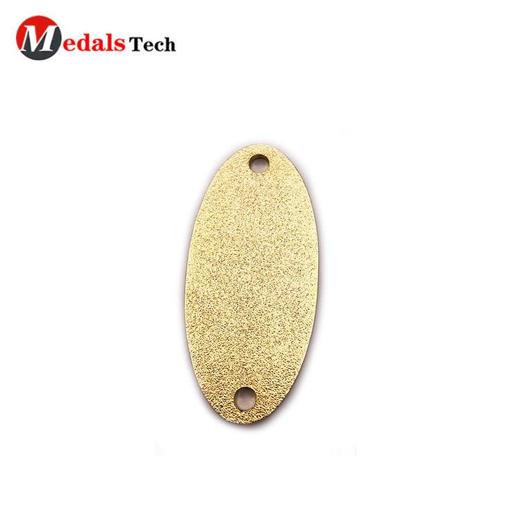 Creative new design gold plating eye shape metal color filled label
