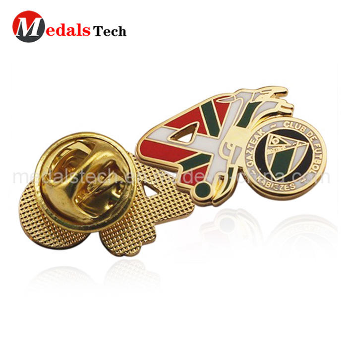 Factory price antique gold logo military lapel pins with butterfly cap