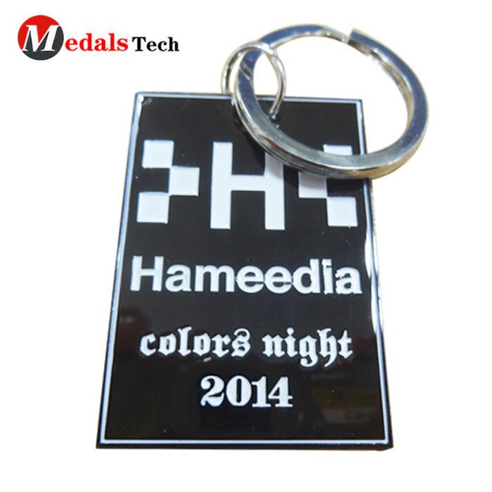 2019 promotional item black sublimation color filled card keychain