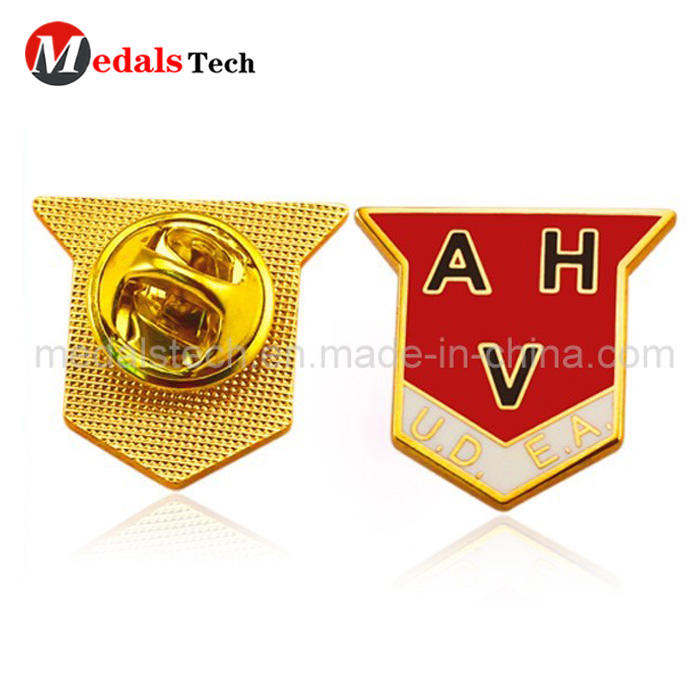 Free sample custom metal soft enamel  military lapel pin for souvenir