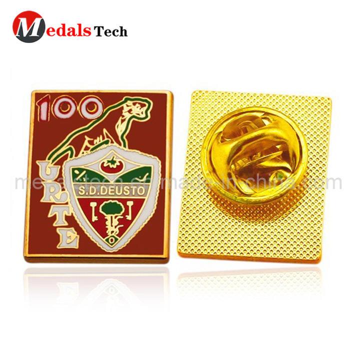 Free sample custom metal soft enamel  military lapel pin for souvenir