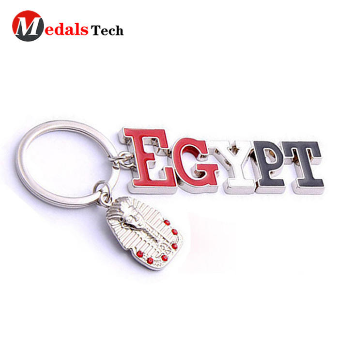 Custom soft enamel beautiful hollow heart shape metal keychains