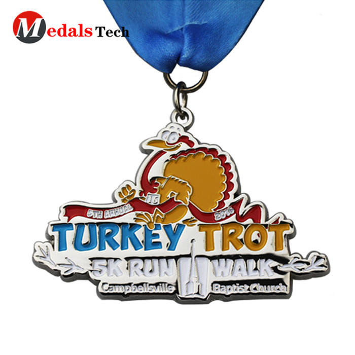 Cheap metal custom medal for christmas santa run