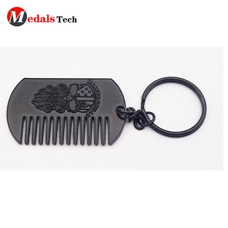Custom cheap engraved logo metal gift souvenir comb dog tag