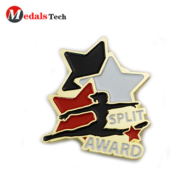 Cheap custom enamel rose gold souvenir award pin lapel pin