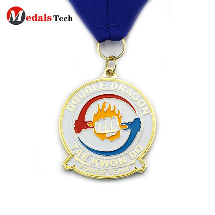 Promotional  enamel metal  make finisher sport award medals
