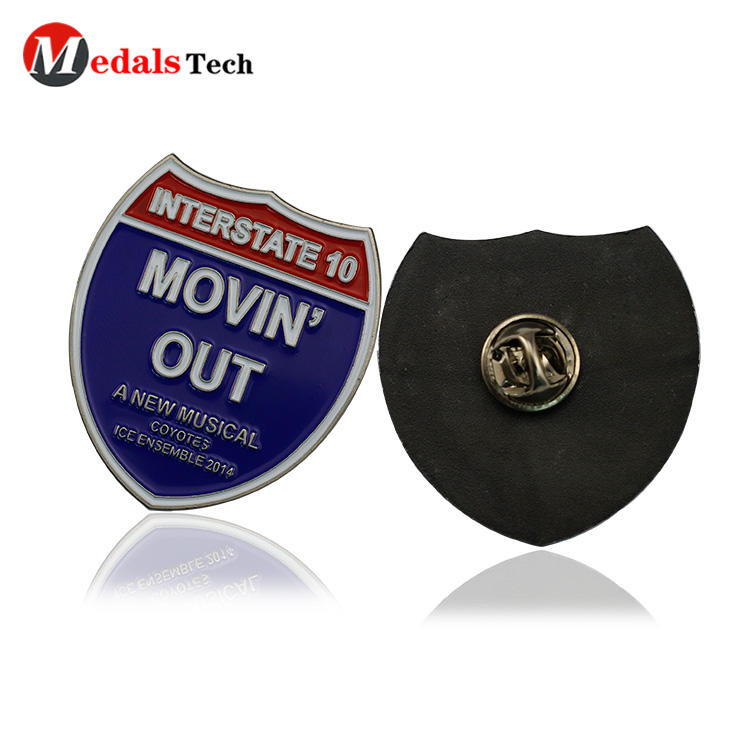 High quality cheap enamel company brand google lapel pin back