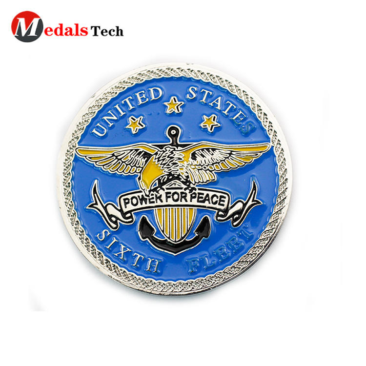 Promotional unique silver custom logo cheap  challenge coins
