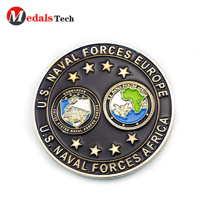 Promotional unique silver custom logo cheap  challenge coins