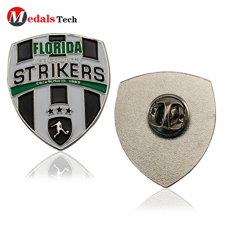 Promotional custom metal football sports souvenir badge