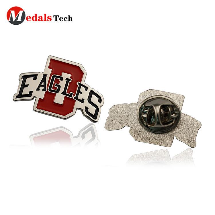 No minimum order metal funny shaped  silver engraved logo badge