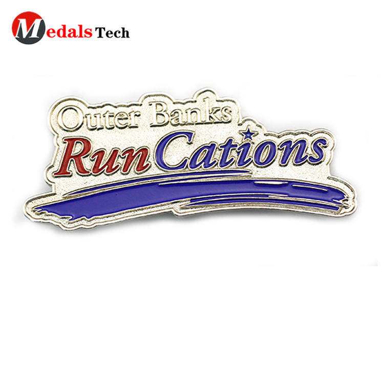Cheap custom logo soft enamel metal  souvenir badge